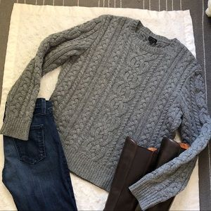 J Crew Cable Knit Fisherman Sweater